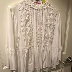 Zara white Blouse worn once!